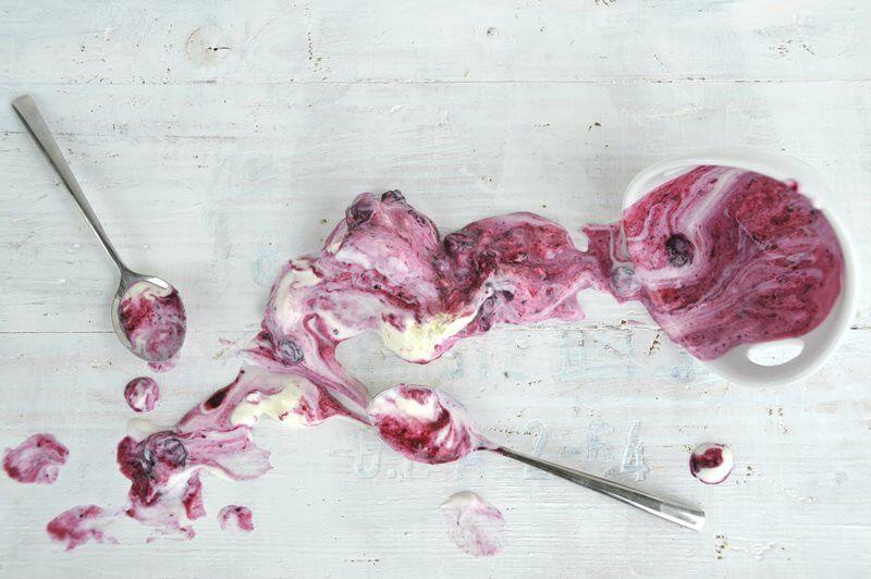 joghurt eis blaubeeren