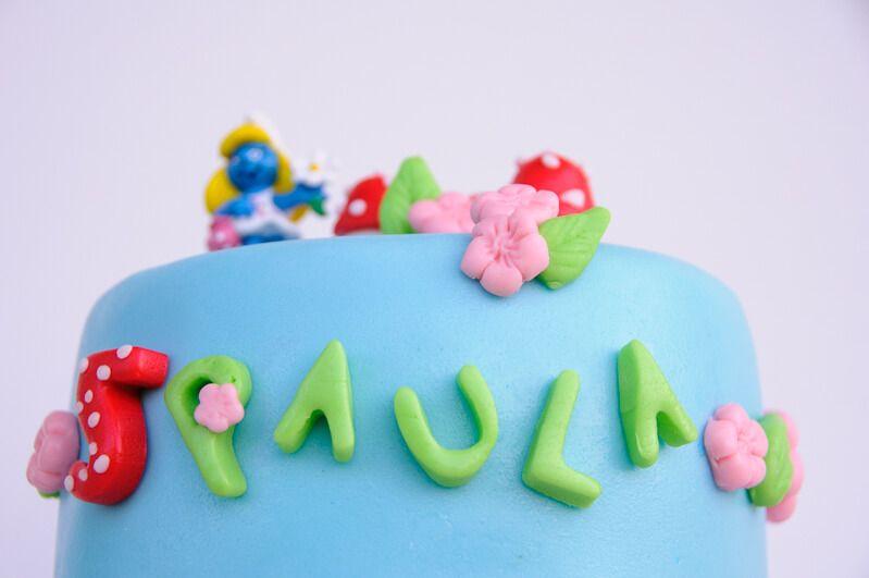 smurfs cake fondant schlumpftorte