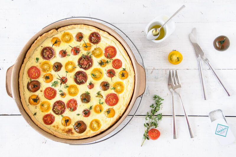 tomaten quiche parmesan