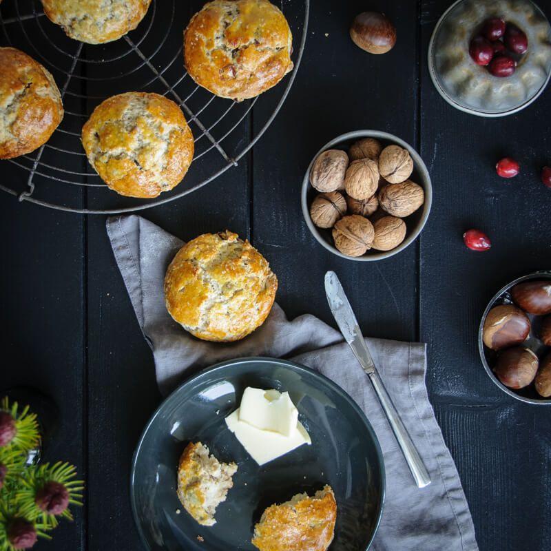 scones maronen cranberries walnüsse