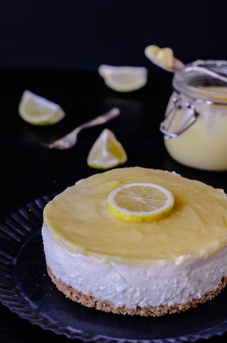 no bake cheesecake lemon curd