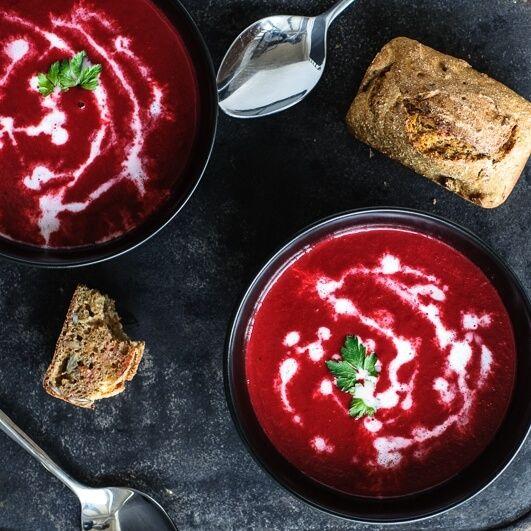 Aus Dem Thermomix Vegane Rote Beete Suppe Und