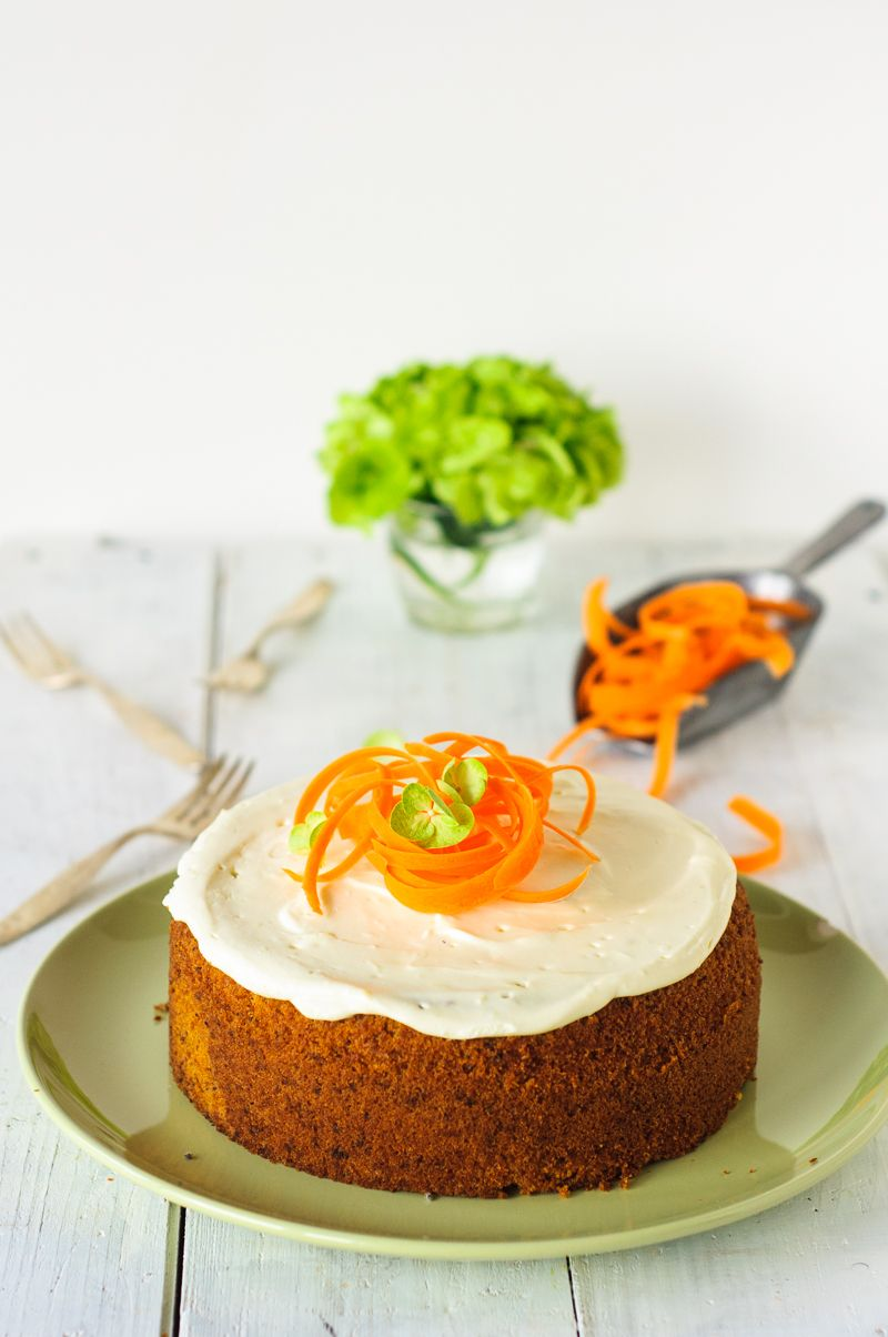 Karottenkuchen Frischkäsefrosting trickytine