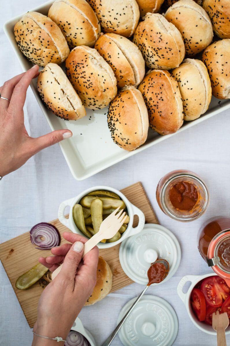 rhabarber garten party kuchen sirup ketchup burger trickytine
