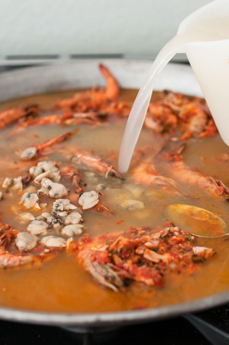 paella de marisco meeresfrüchte paella trickytine