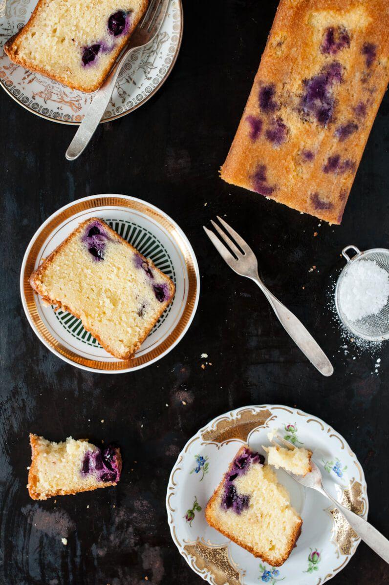 dinkelrührkuchen olivenöl blaubeere holunderblütensirup