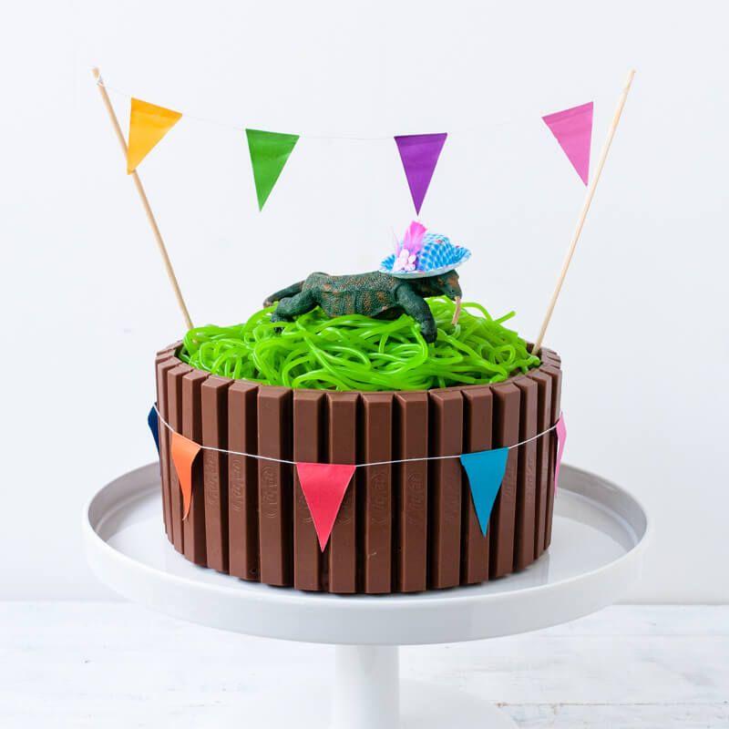neo tier torte party animal trickytine kitkat nusskuchen smarties cookies