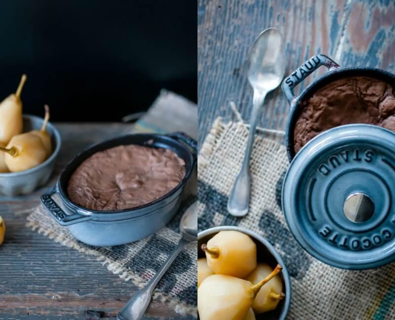 schokoladenkuchen mit flüssigem kern fondant au chocolat trickytine