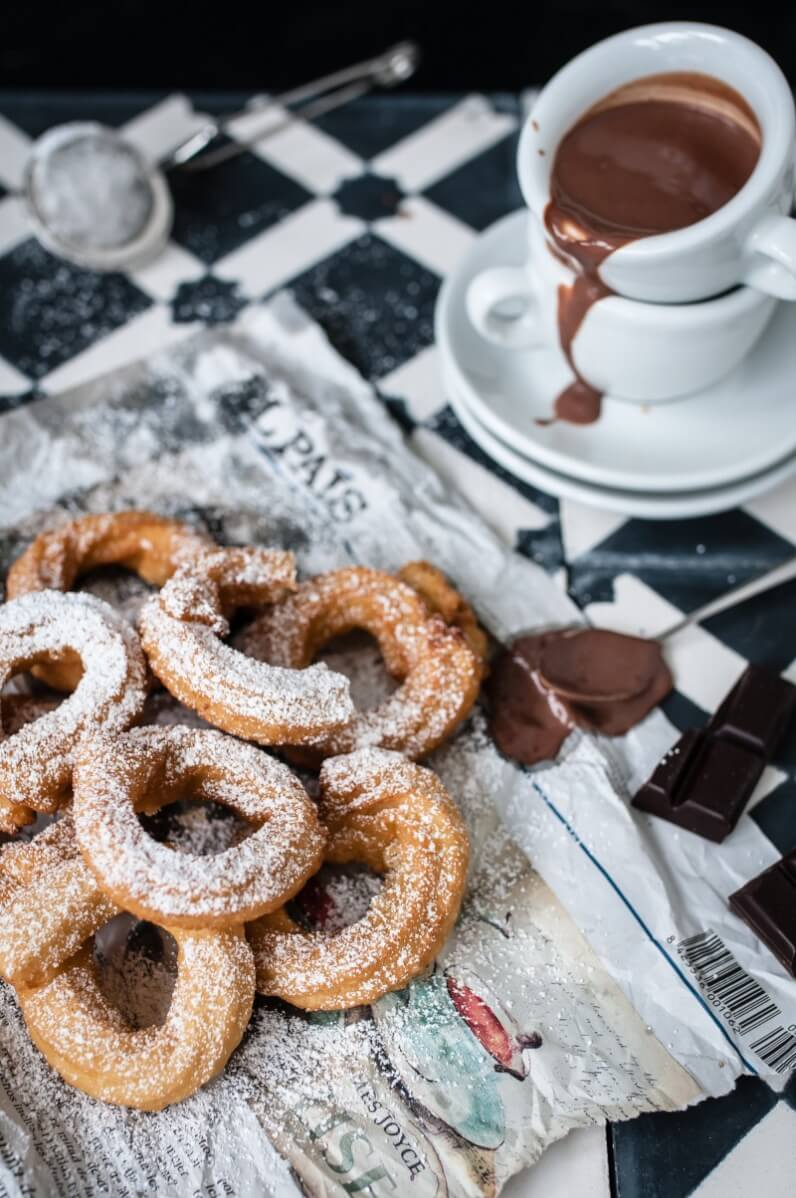 churros con chocolate trickytine foodlovin