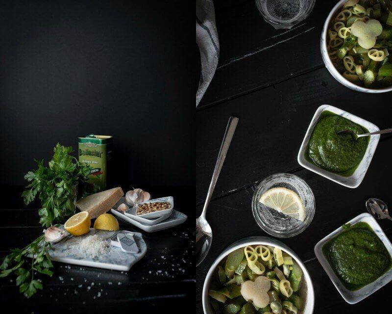 grüne spargel frühlingsminestrone