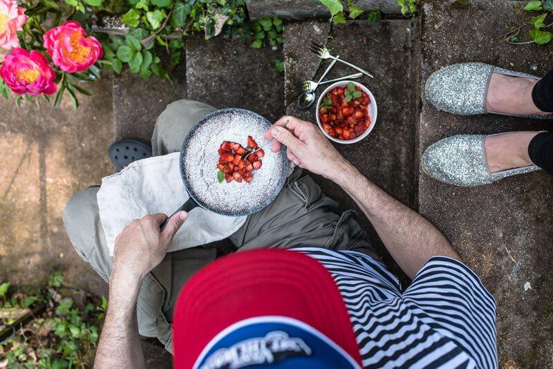 maispoularden saltimbocca tomaten focaccia trickytine