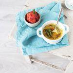 spargel creme brulee tomatensorbet trickytine