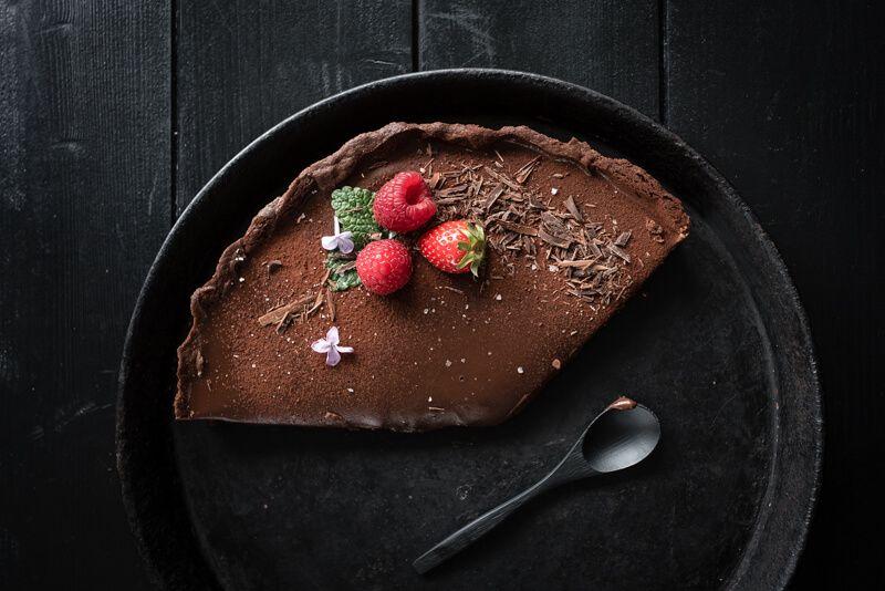 kaffee schokoladen ganache tarte trickytine