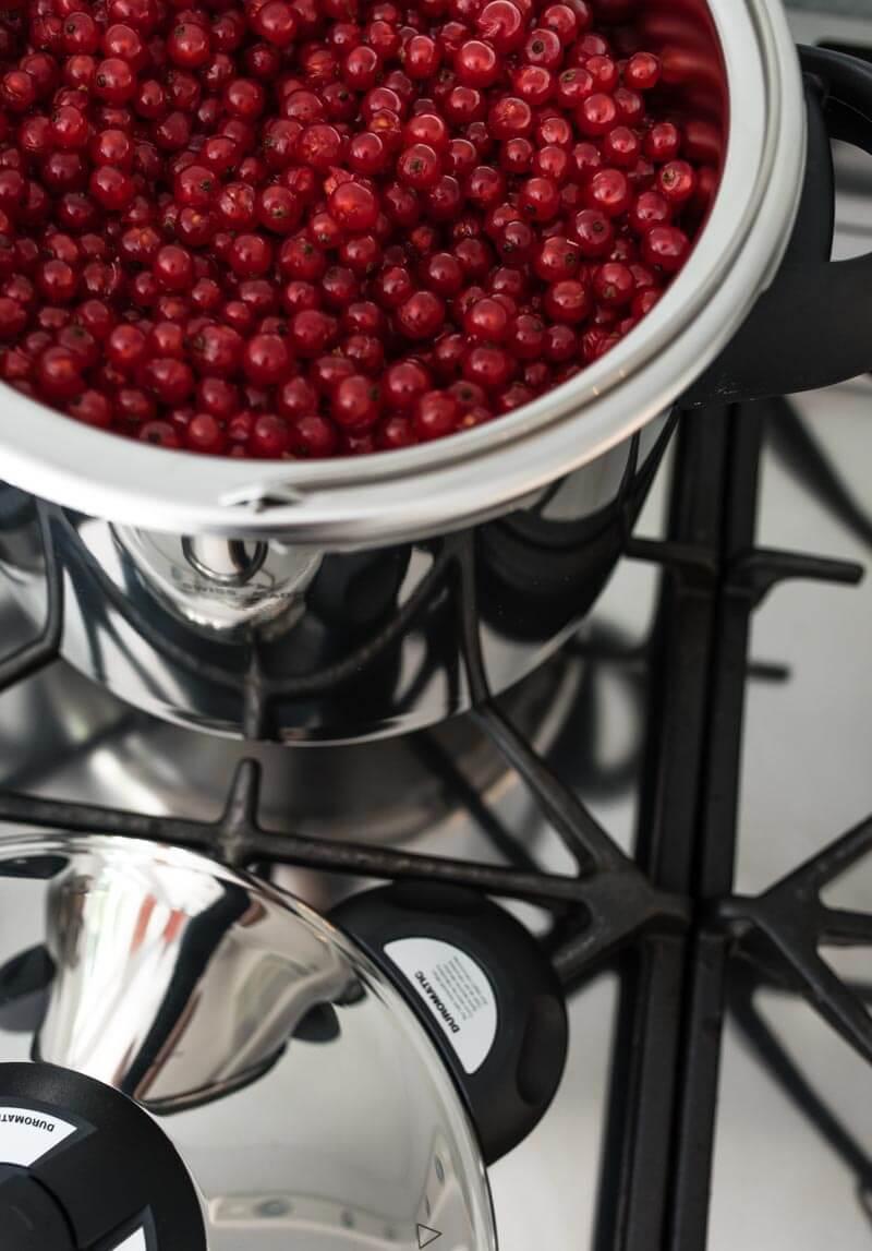 schnellkochtopf einmachen weck johannibeersirup kirschmarmelade trickytine