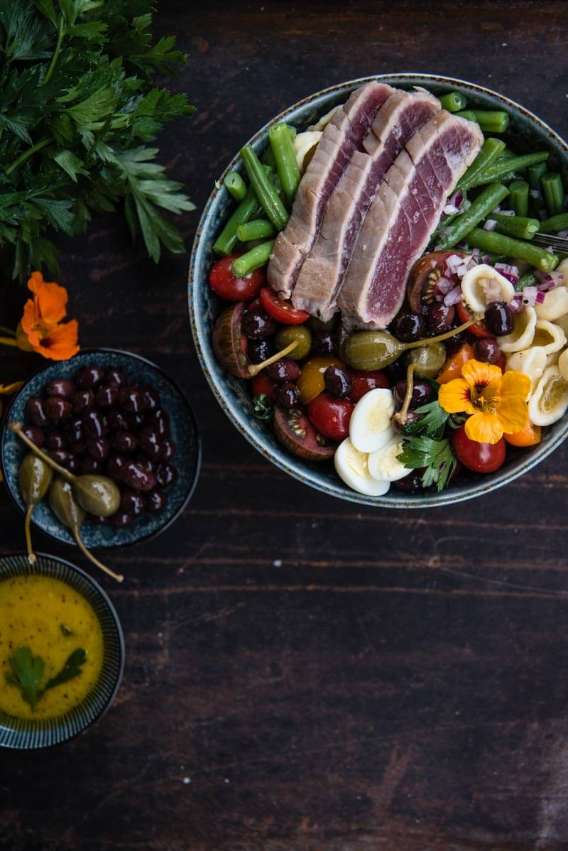 nudelsalat nicoise nizza salat trickytine