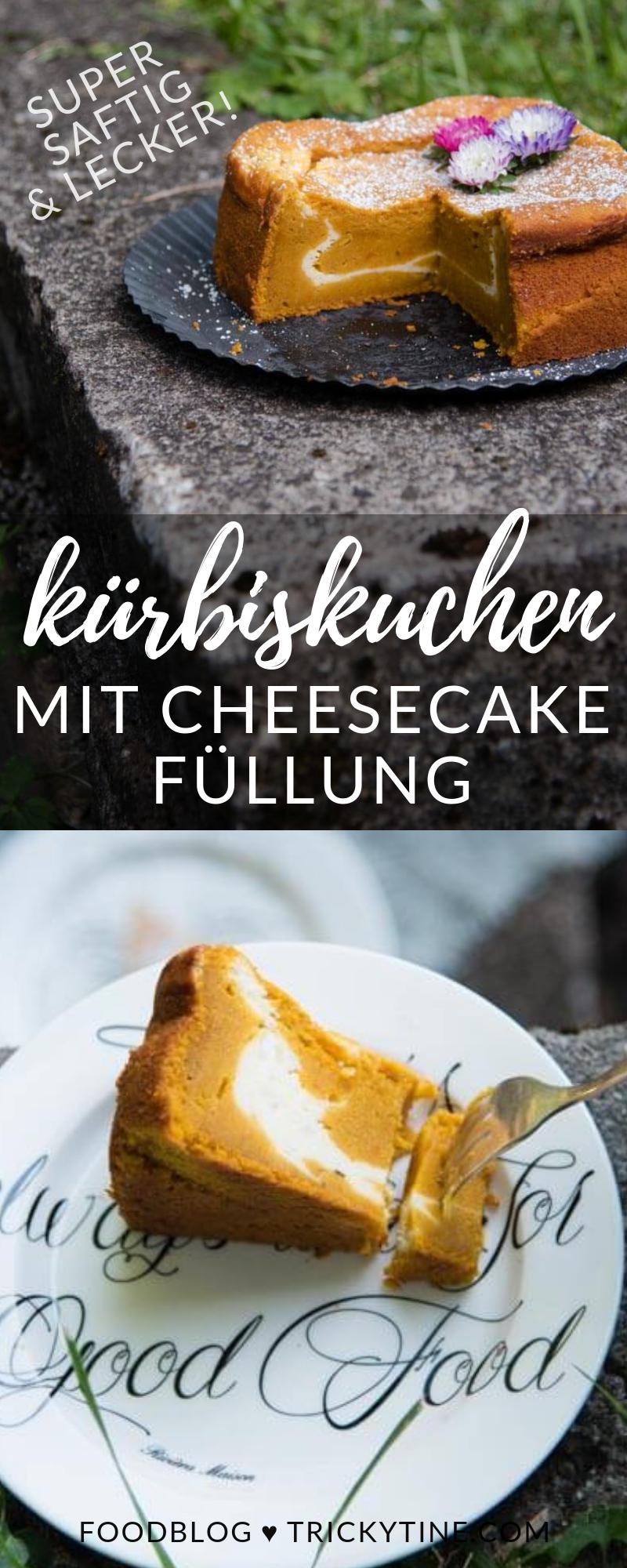 kuerbiskuchen cheesecake trickytine