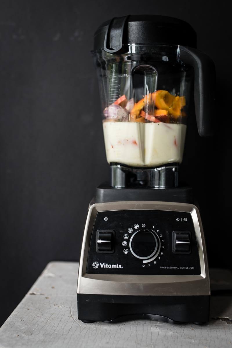 kuerbissuppe trickytine vitamix vegan kuerbiskernkrokant