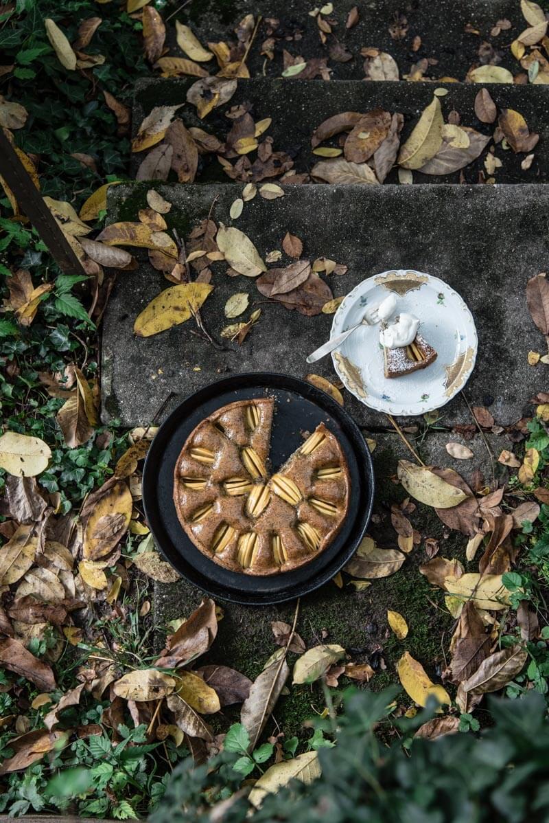 gedeckter apfelkuchen mohn trickytine