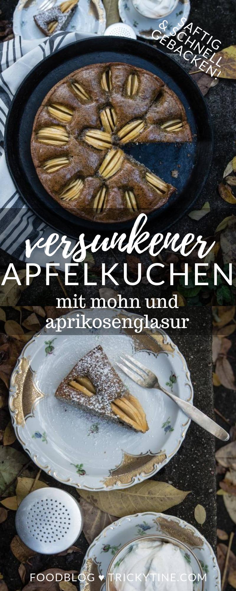 versunkener apfelkuchen pinterest trickytine