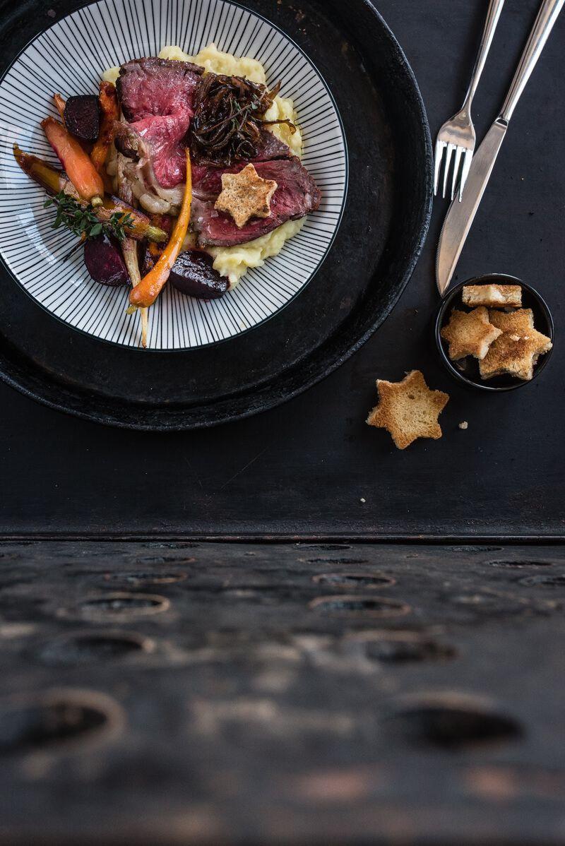 roastbeef ofen trickytine wurzelgemüse kartoffelstampf