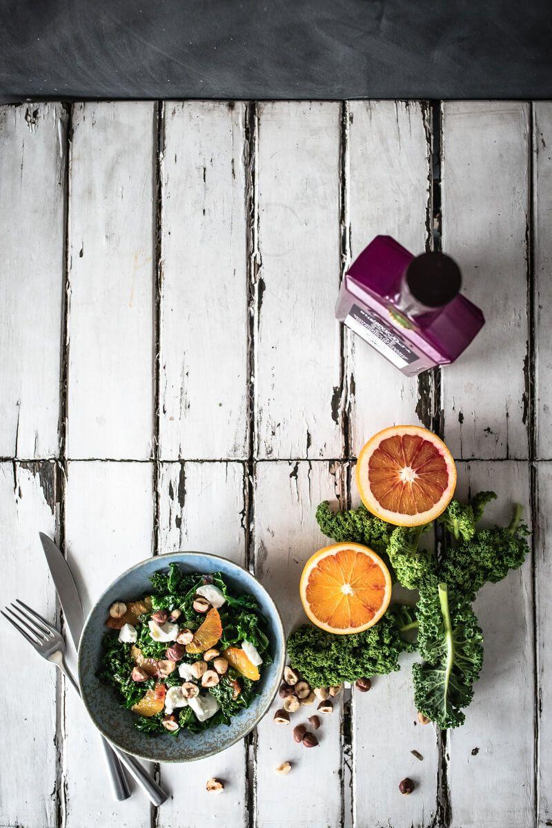 gruenkohlsalat blutorangenvinaigrette trickytine