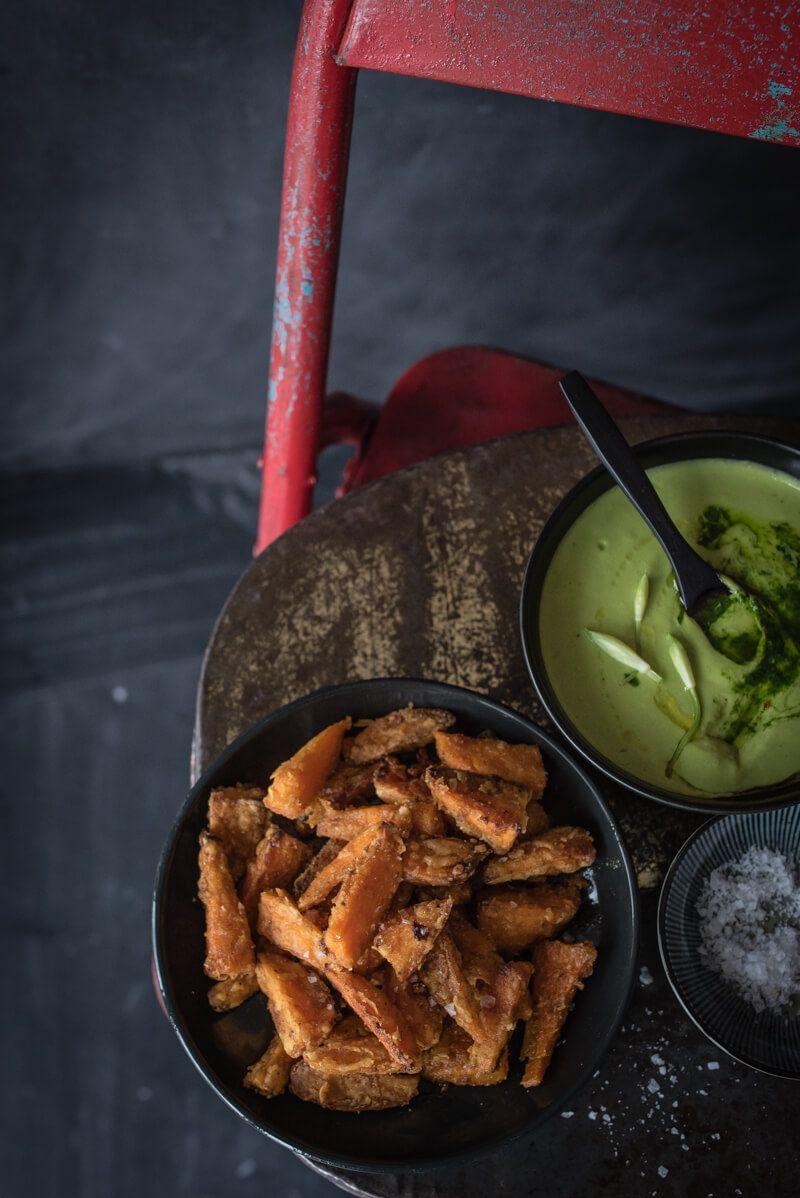 baerlauch cannelini hummus suesskartoffel pommes trickytine