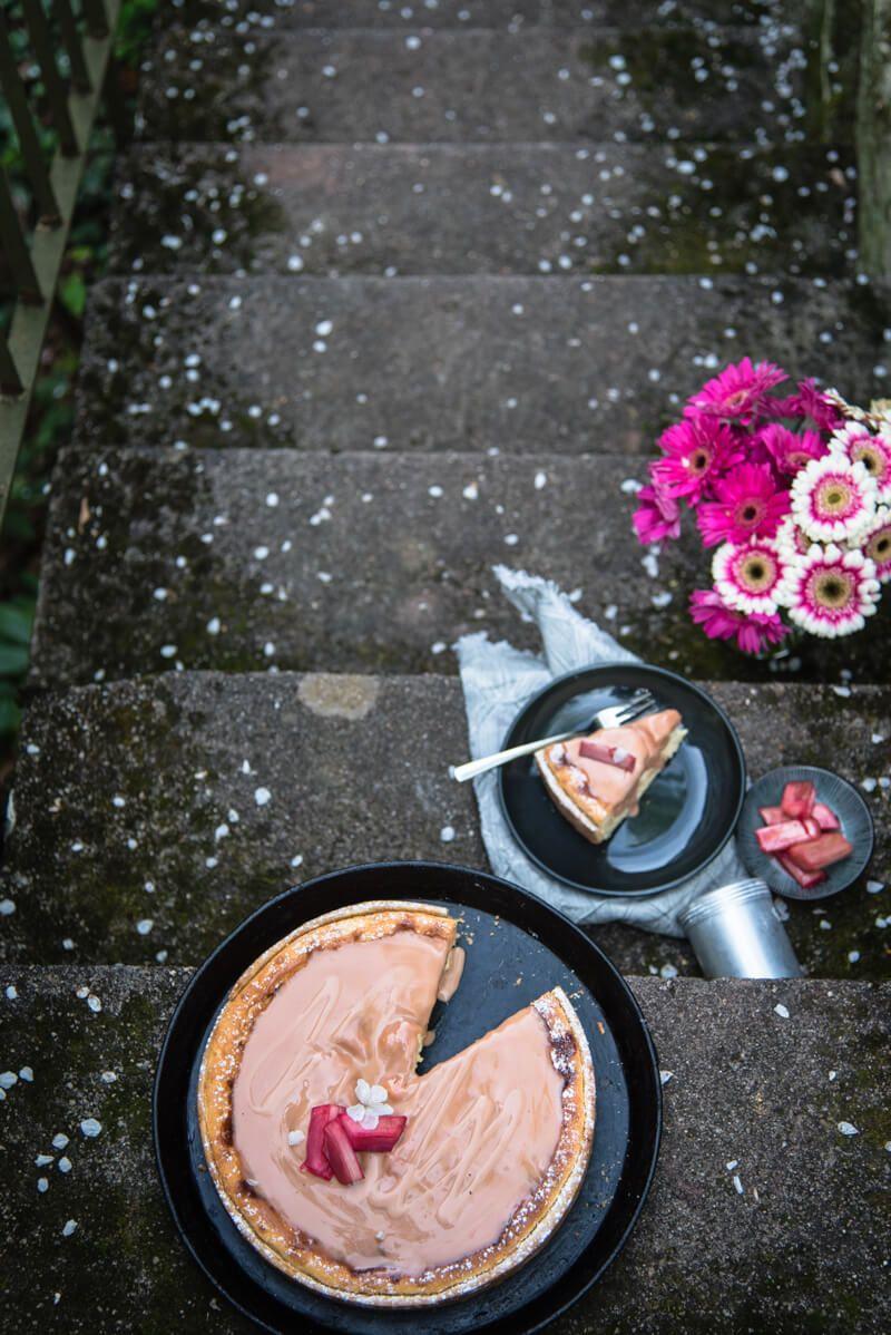 kaesekuchen rhabarber trickytine