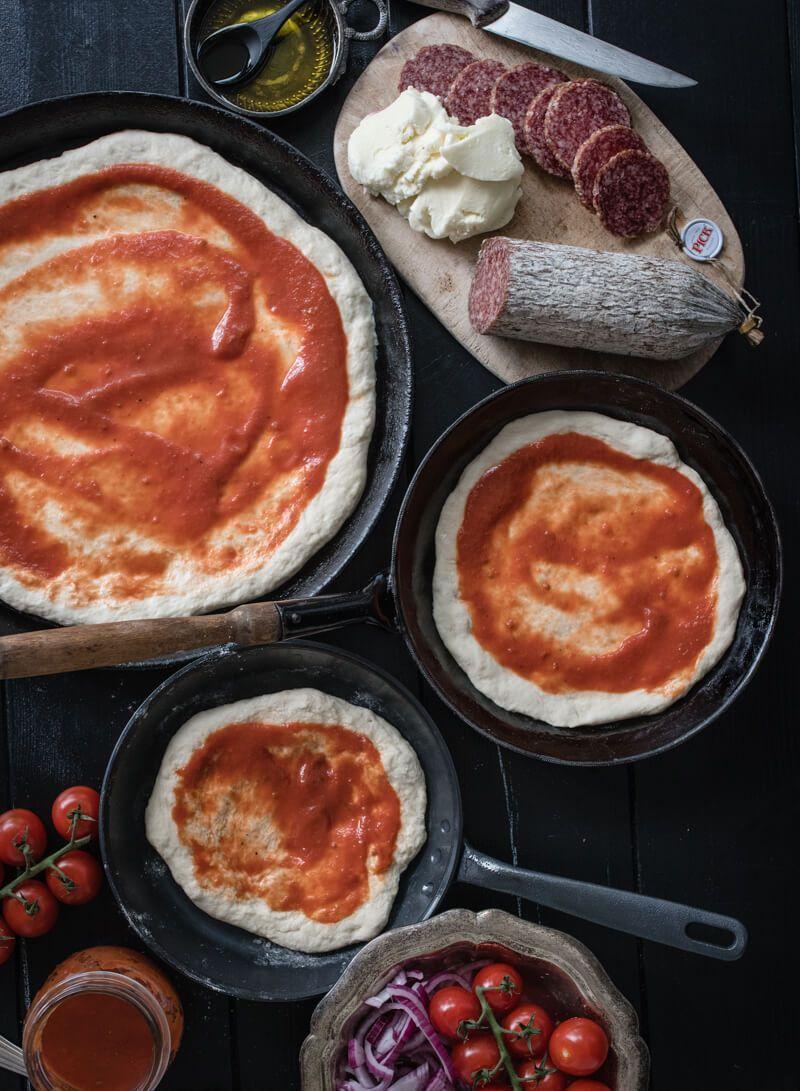 pan pizza salami trickytine