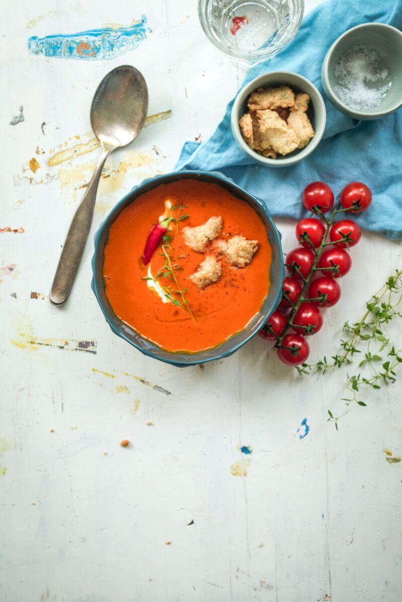 tomatensuppe trickytine kaesecrumbles