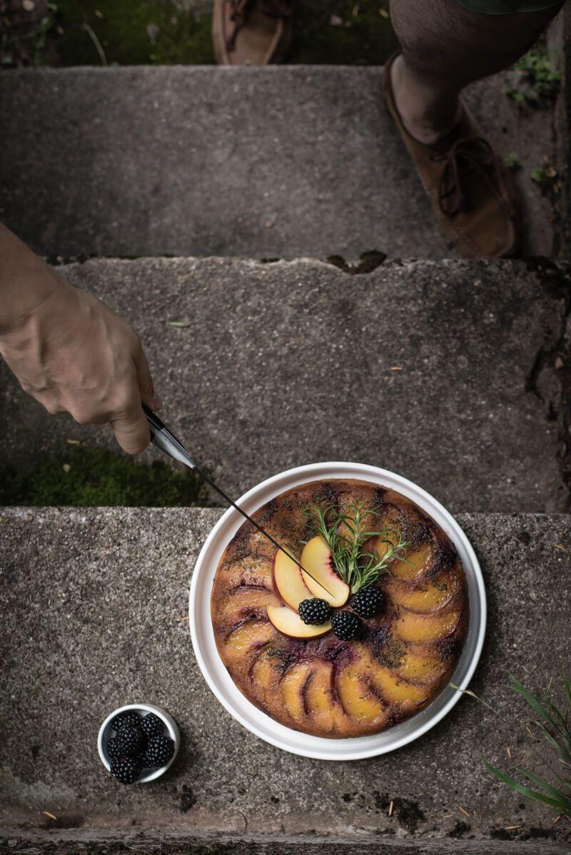 nektarinen upside down kuchen trickytine