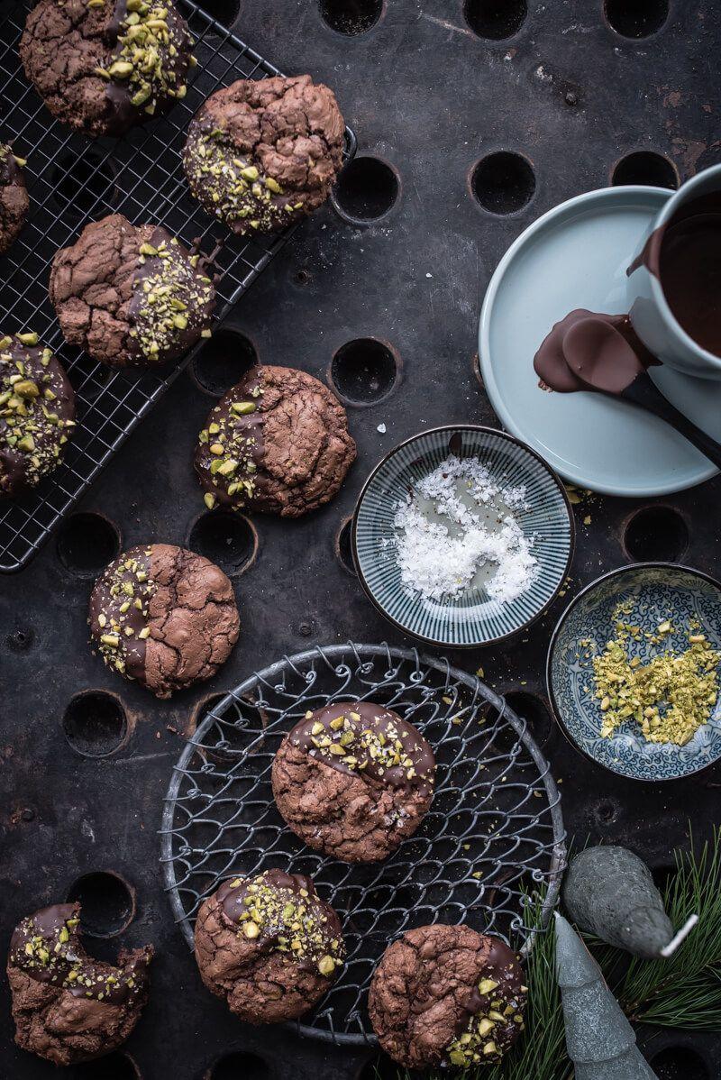 brownie cookies pistazien fleur de sel trickytine