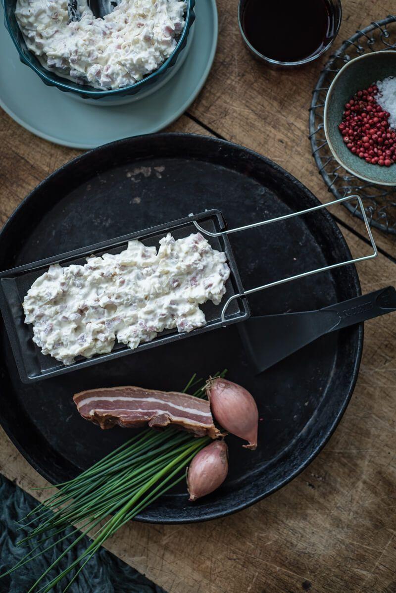 flammkuchen raclette trickytine