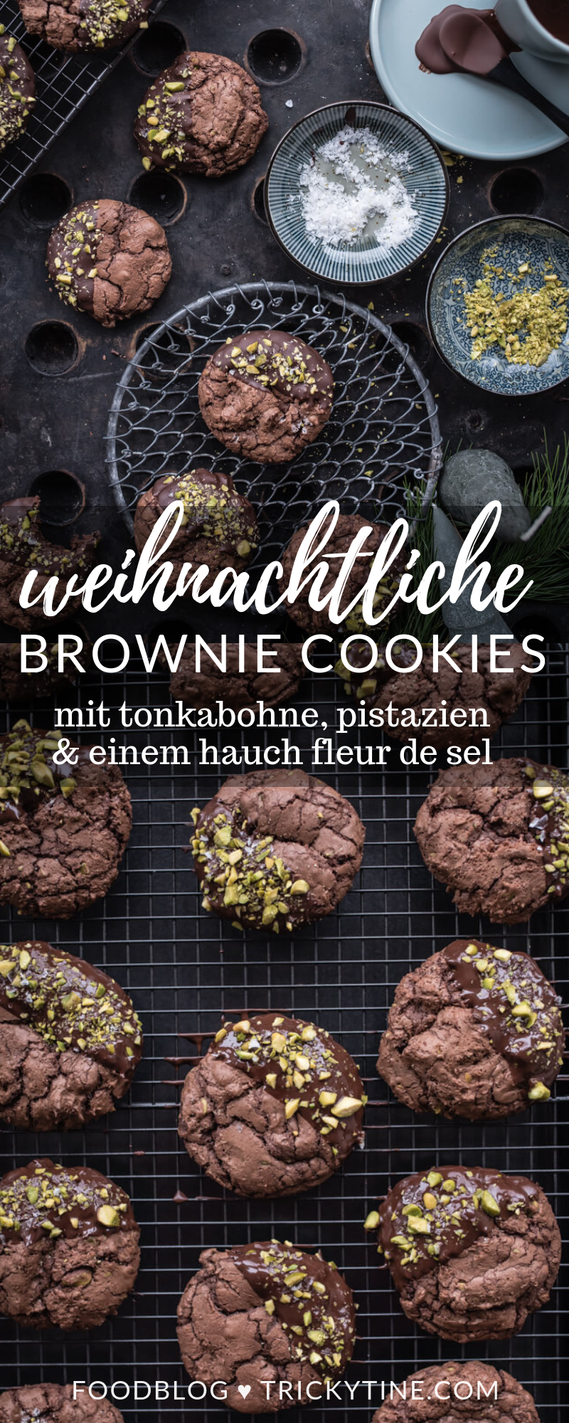 brownie cookies trickytine weihnachten advent backen