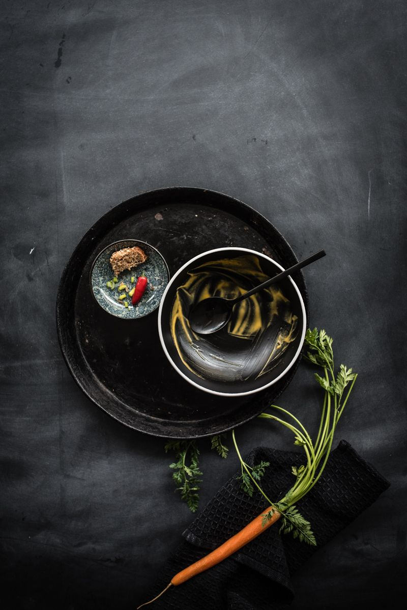 karottensuppe ingwer kokosmilch vegan trickytine