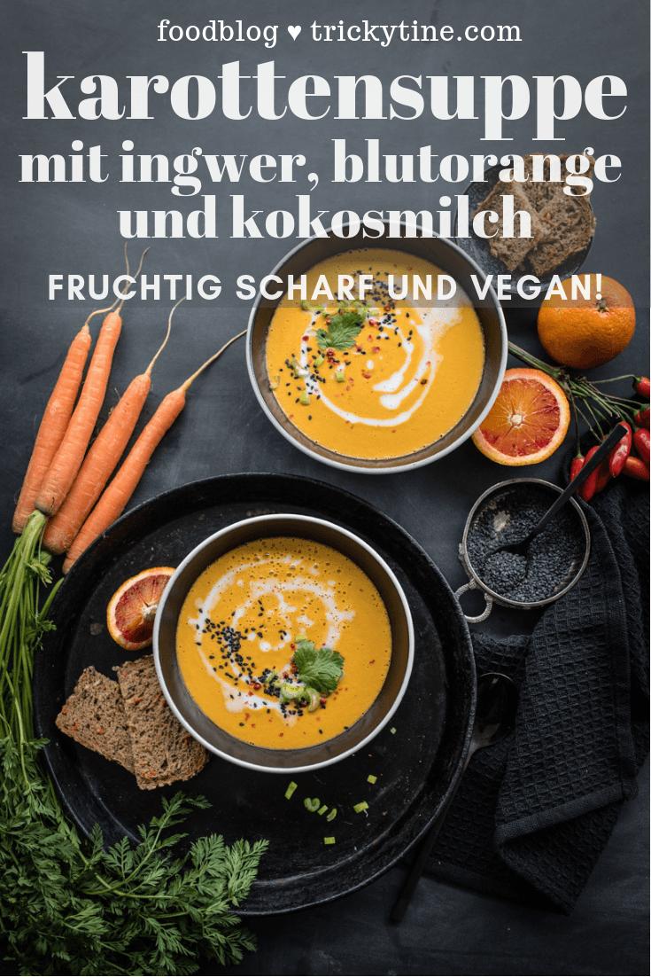 trickytine pinterest collage foodblog karottensuppe vegan