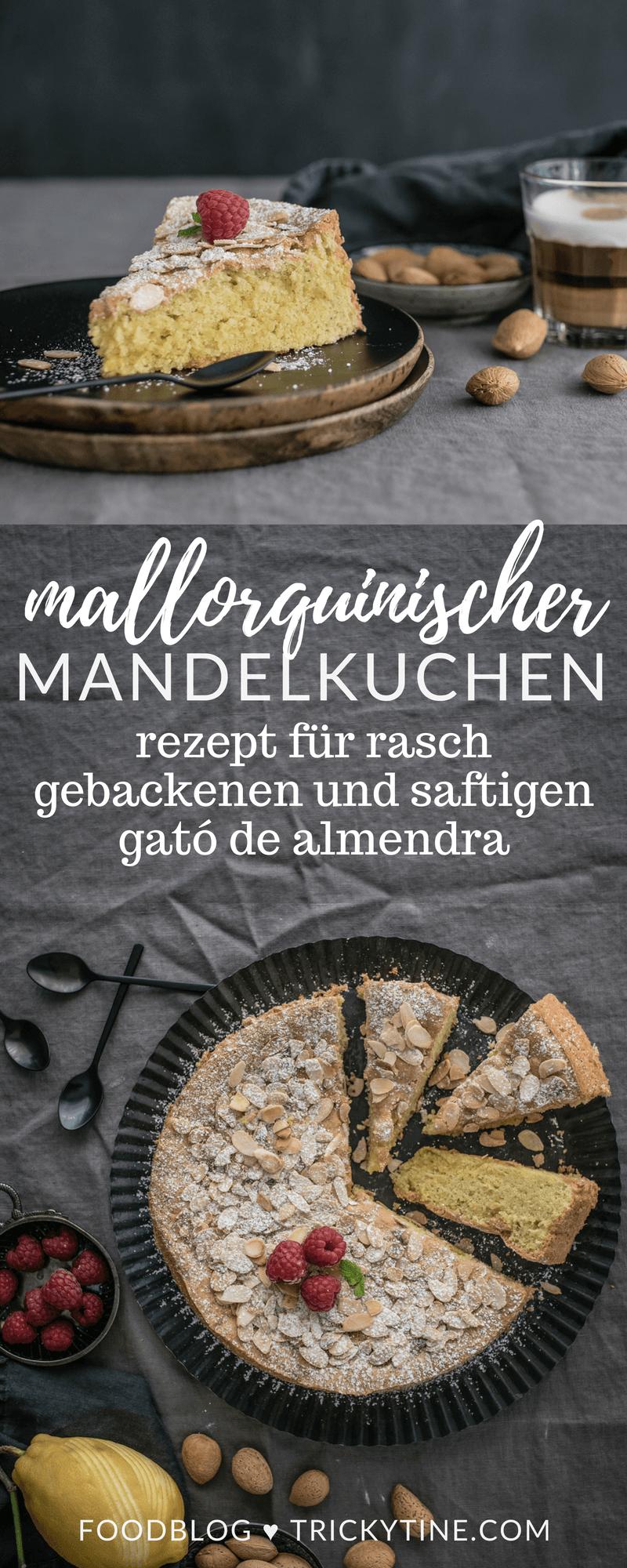 rezept mallorquinischer mandelkuchen trickytine