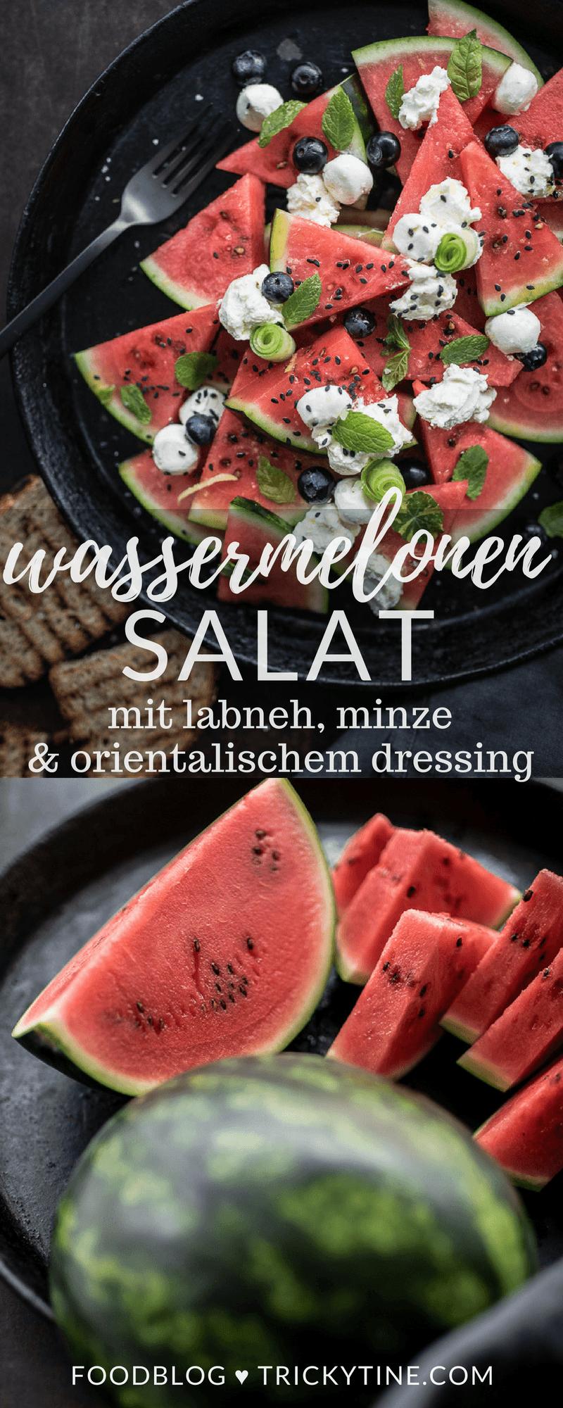 wassermelonensalat labneh trickytine rezept pinterest