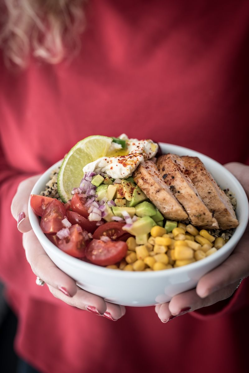 Chicken Burrito Bowl Quinoa trickytine