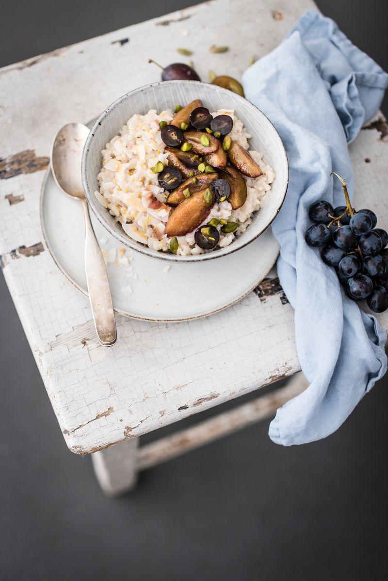 kokosmilchreis trickytine vegan zuckerfrei porridge