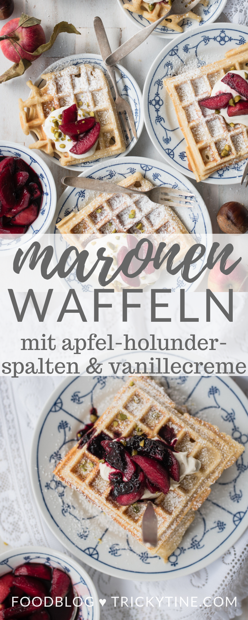 maronenwaffeln trickytine pinterest collage
