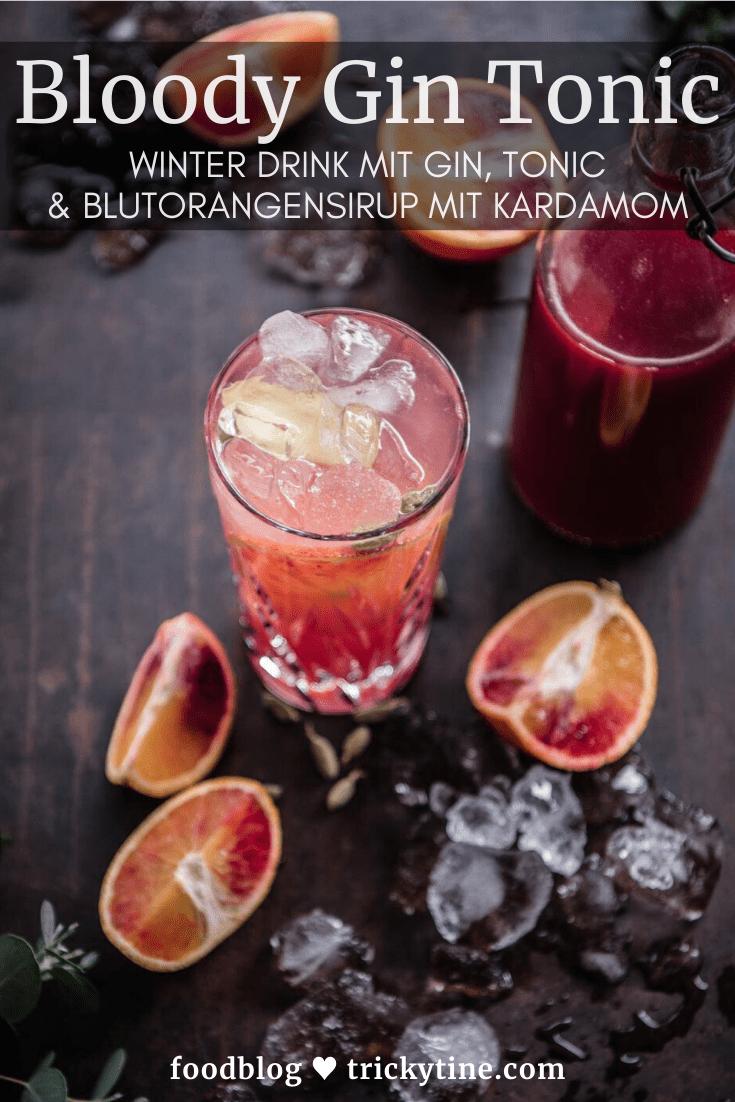 Blood Orange Gin Tonic trickytine
