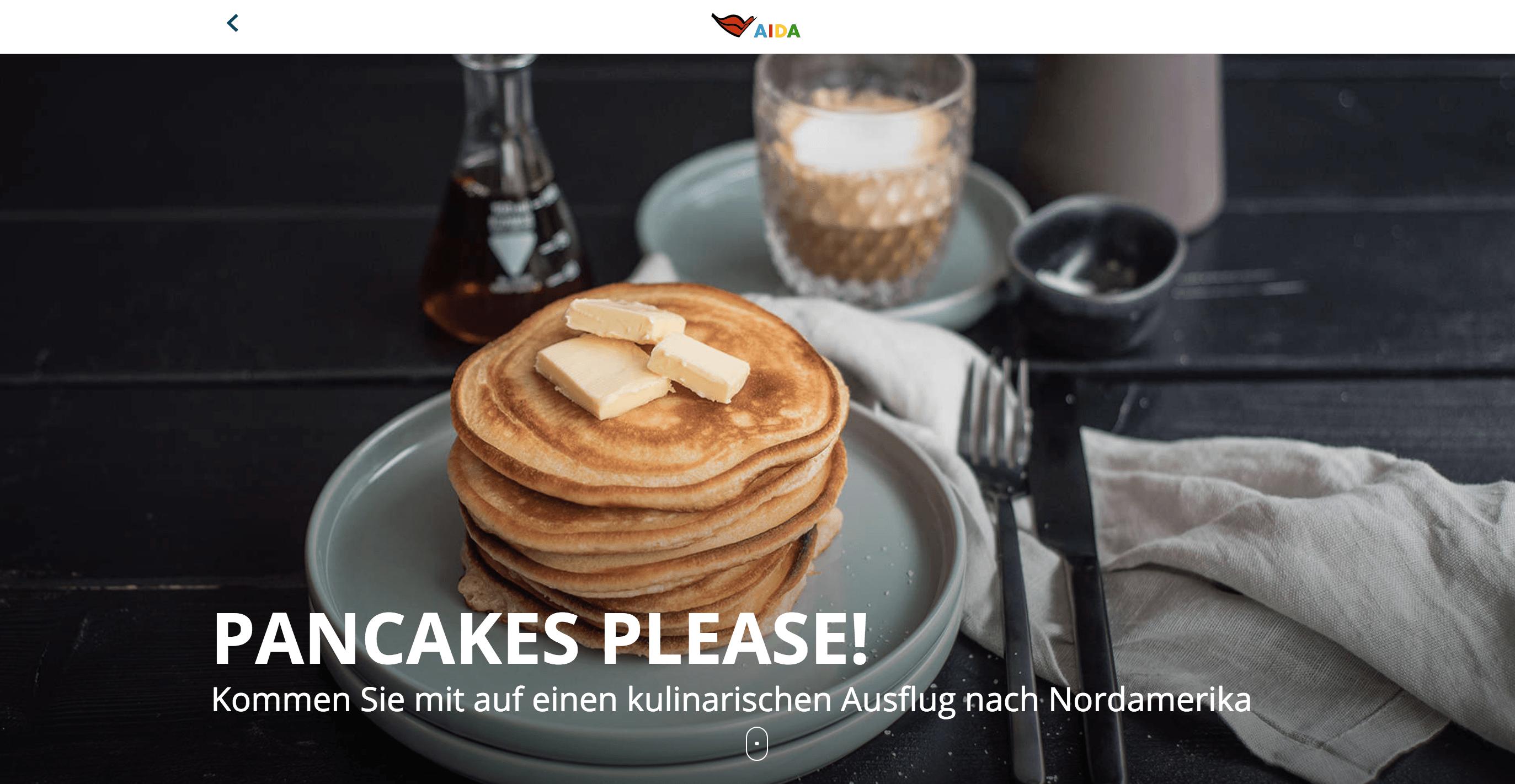 AIDA Blog Pancakes trickytine