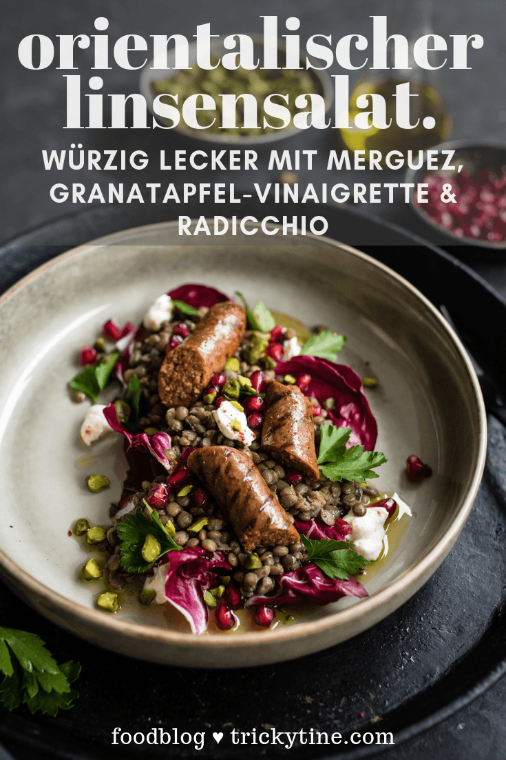 Linsensalat Merguez trickytine Pinterest Collage