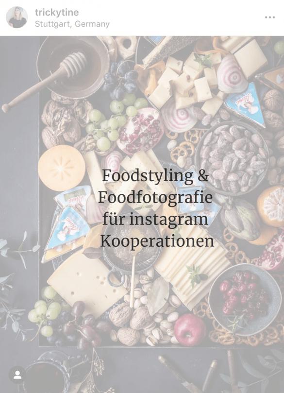 Foodstyling & Foodfotografie für instagram Kooperationen