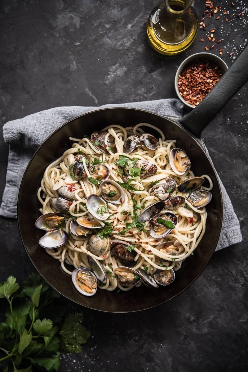 Spaghetti Vongole Rezept trickytine