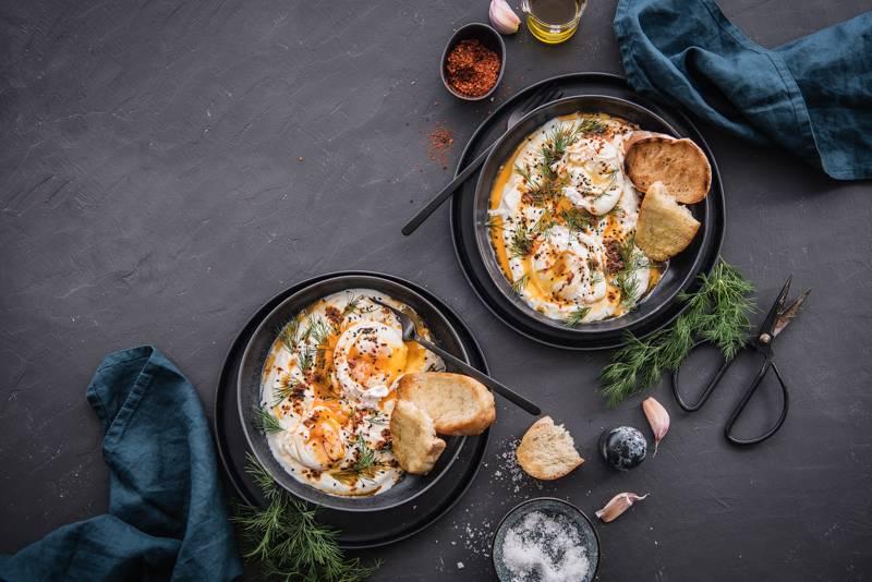 Rezept Cilbir Çılbır vegetarisches Frühstück Foodblog trickytine
