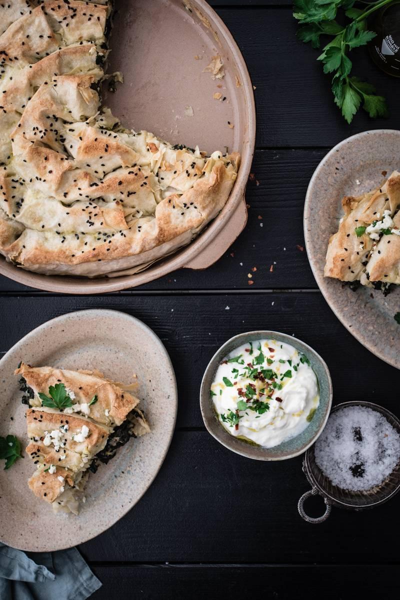 Rezept für Yufka Börek mit Spinat und Feta Käse - einfach gemacht und so köstlich!