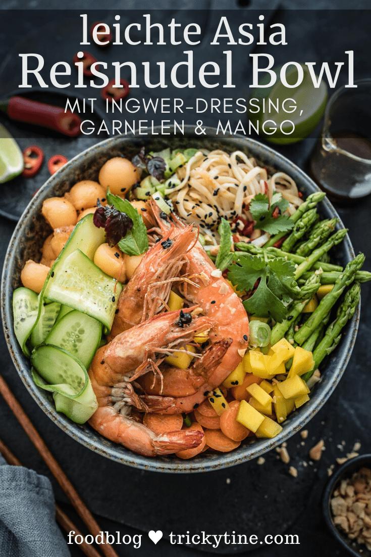 Asia Reisnudel Bowl trickytine Pinterest Collage