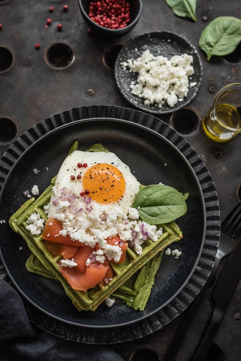 Spinatwaffel Schafskaese Lachs trickytine Foodblog Stuttgart