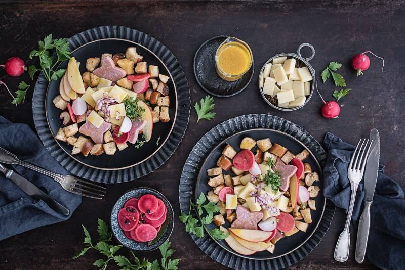 Brezel Bergkaese Panzanella trickytine Foodblog Stuttgart